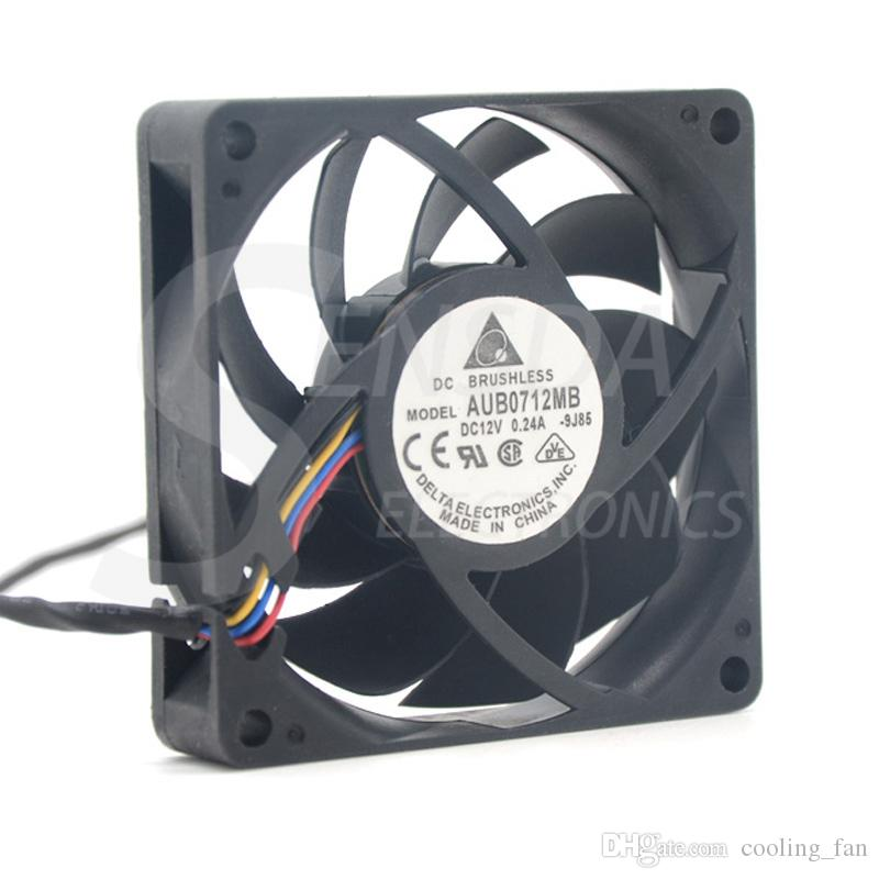 Free Shipping New and Original AUB0712MB 7015 12V 0.24A 7cm 4 -pin PWM CPU cooling fan for For Delta 70*70*15mm