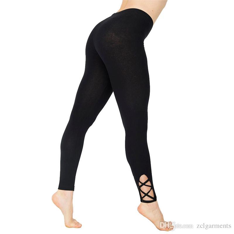 obtener nuevos comprar barato mejor autentico Compre Sexy Push Up Leggings Negros Mujeres Fashion Workout ...