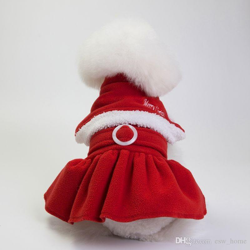 5 Size Christmas dog costume transformed dress santa suit classic Euramerican pet dog warm Christmas clothes dog apparel decoration supplies