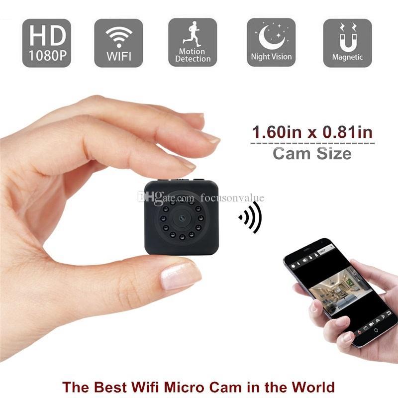 Telecamera WIFI Micro Camera HD 1080P Night Vision e sensore di movimento Home Security Videocamere Mini Telecamera portatile Wireless 2.4G Wifi P2P IP