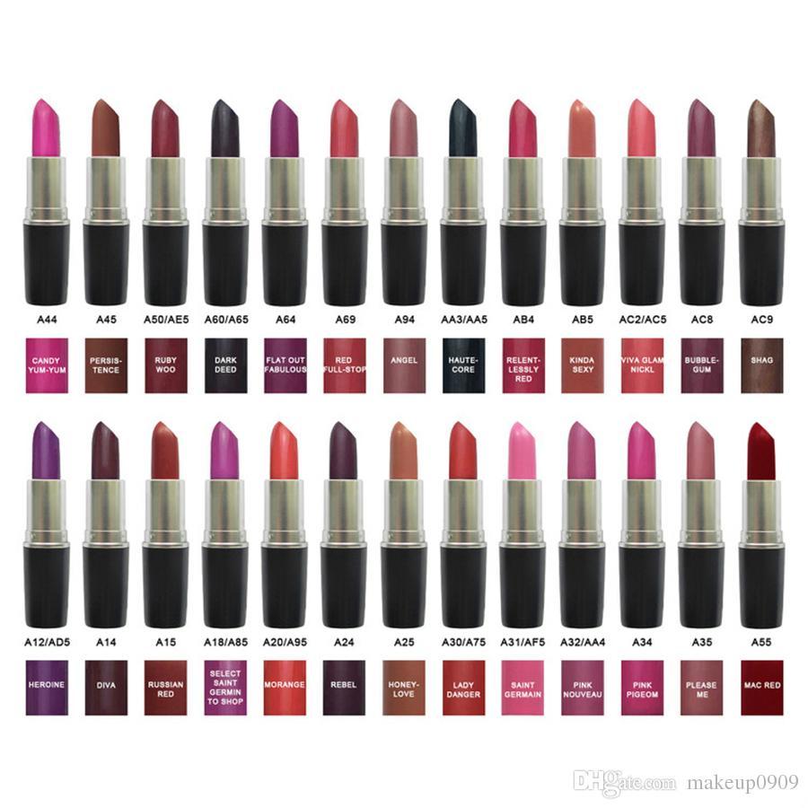 Top quality M Brand Matte Lipstick Cosmetics Long lasting Waterproof Luster Retro Lipsticks DHL free shipping 100% real photo high quality