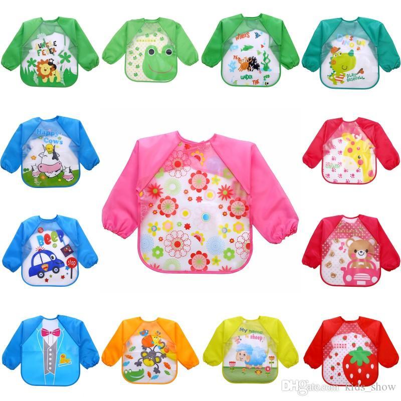방수 전체 슬리브 Bibs 어린이 앞치마 롱 슬리브 먹이 Bibs 아이 흉터를 먹는 아이 키즈 Baby Cloth Stuff