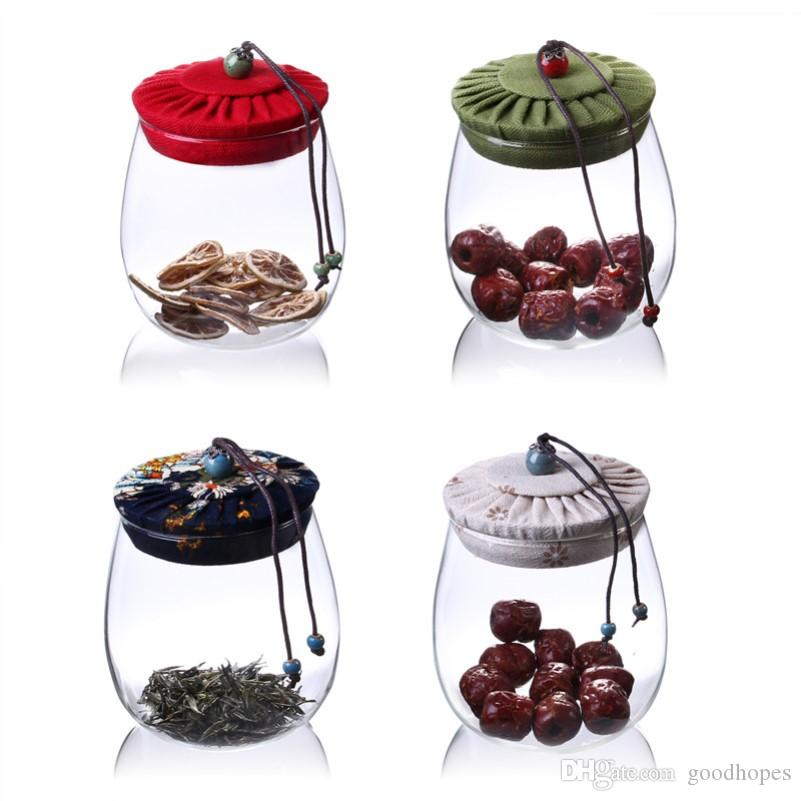 Transparent Glass Bottle Food Storage Jar Big Capacity Container 600ml 1000ml Kitchen Spice Sealed Cans with Lid