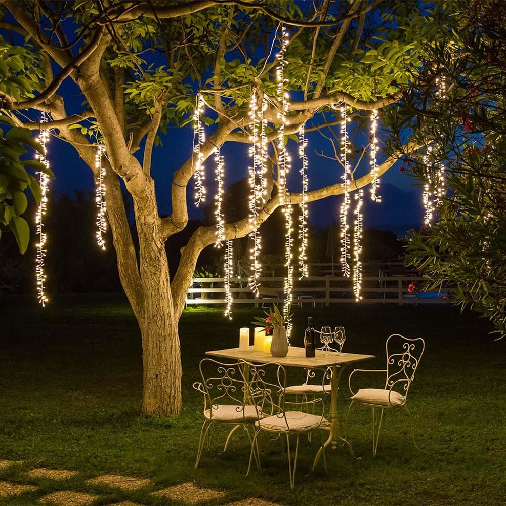 low priced bbe6c be2b3 2.4m Led Tree Decor String Lights Christmas Icicle Fairy Lights Garland Led  Outdoor For Wedding Garden Party Street Decoration String Bulb Lights ...