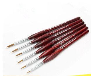 Boyama Malzemeleri boyama hattı çizim kalem naylon guaj fırça hattı naylon guaj kanca hattı kalem