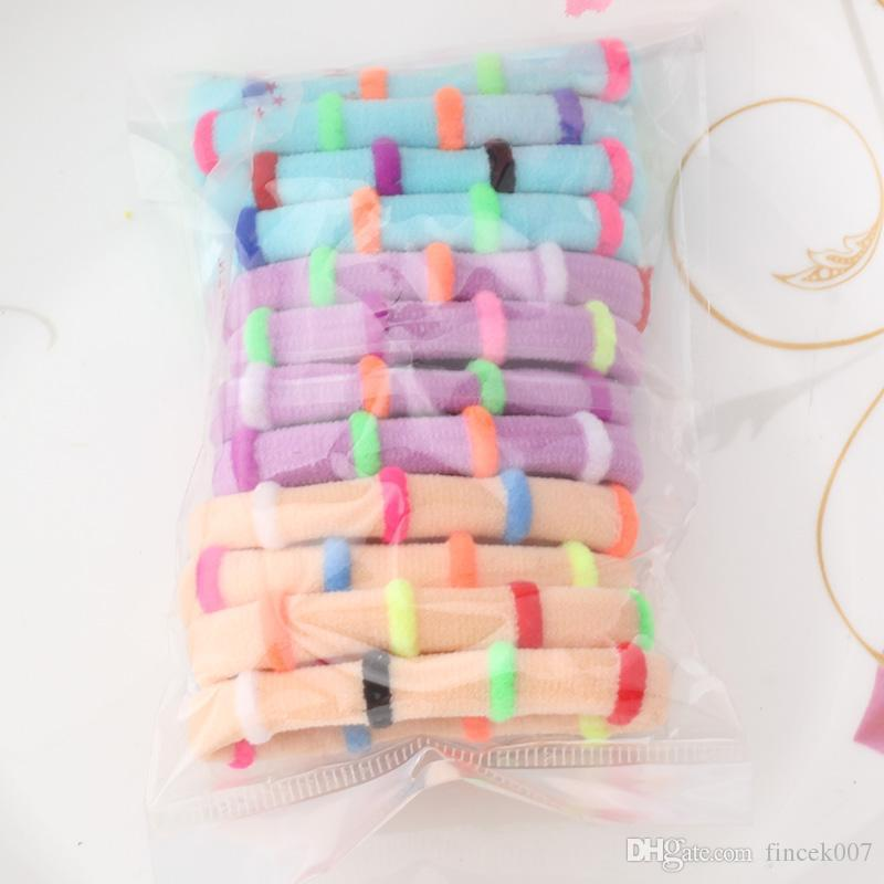 Конфеты цветные высокое качество волос держатели резинки для волос галстук волос группа круг хвост головные уборы резинка