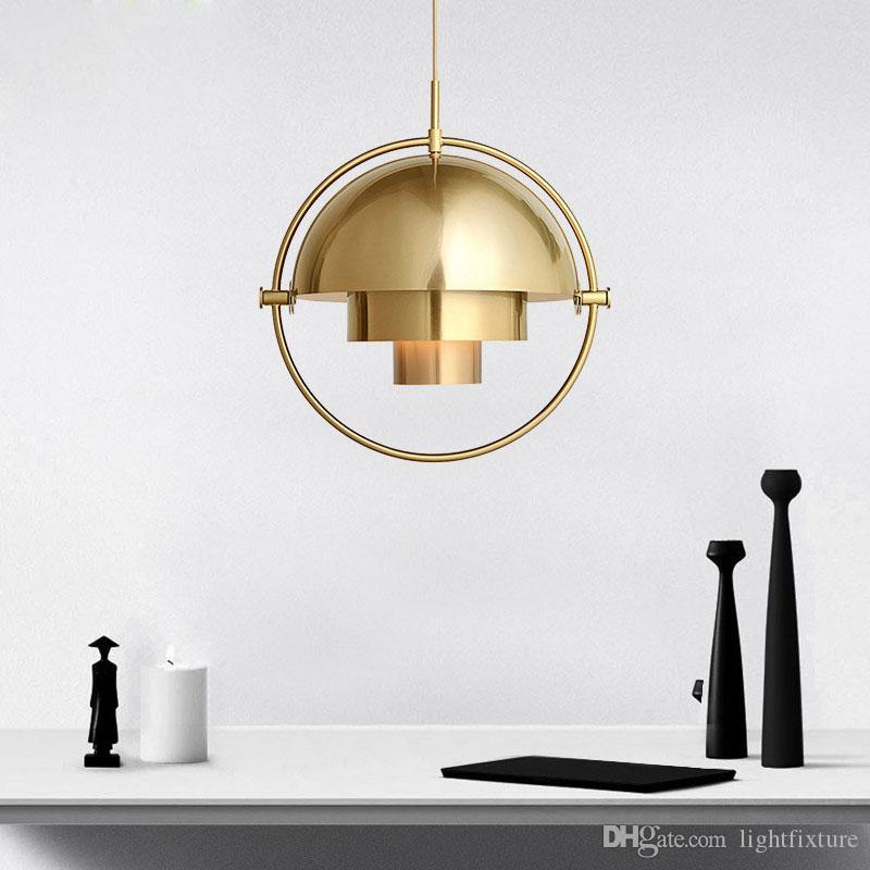 Moderno Rotativo de Metal Iluminación Colgante Salón Abajour Comedor Colgando Lámparas de Luz Estudio Lustres Lámparas