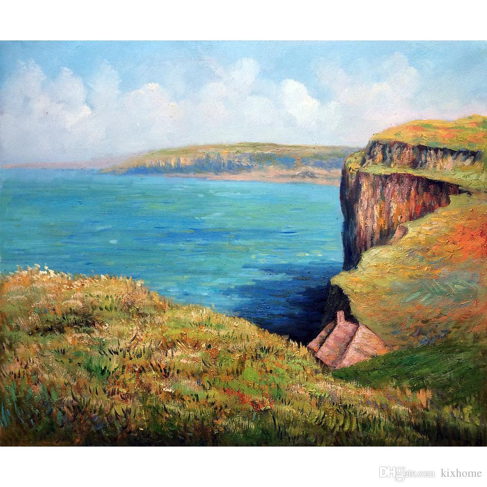 Ünlü yağlıboyalar Claude Monet üreme el boyalı Uçan Fecamp Tuval sanat