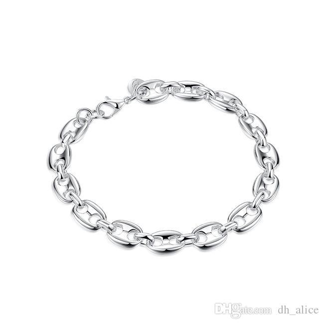 All 8 Charter Bransoletka - Dodano markę Sterling Posrebrzana bransoletka; Brand New Men and Women 925 Silver Bransoletka SPB133