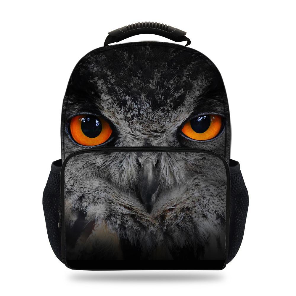 15inch Hot Sale Animal Felt Backpack For School Boys Girls Owl Bag For Kids Students Book Bags For Children Travel