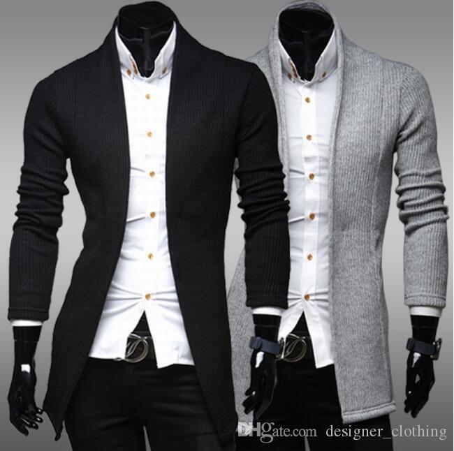 Erkek tasarımcı kazakYeni basit hırka ince kazak ceket erkek V Yaka kazak Erkek Giyim Erkek Kazak Hırka kazak