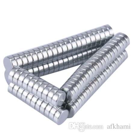100 Unids 3 x 1.0 mm Imanes de Imanes Super Fuertes Fuertes Super Fuertes DIY Gran Uso Magnético Gadgets Cierres Wargaming Modelos