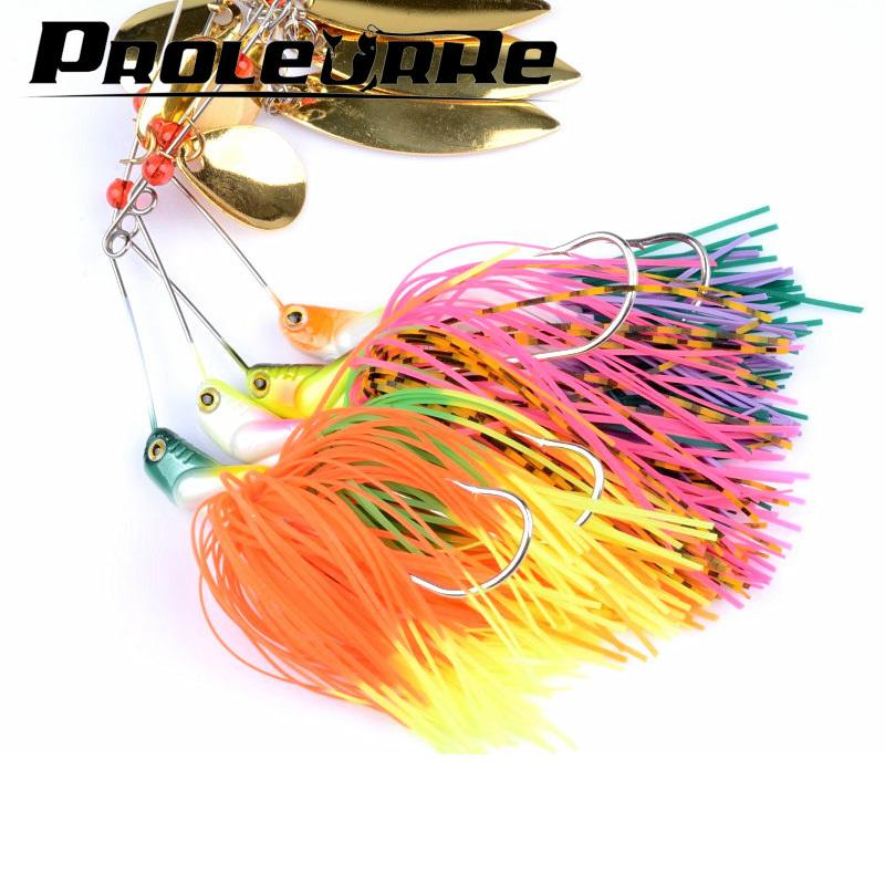1pcs 20.5g Spinnerbait Black Large Mouth Bass Fish Metal Bait Sequin Beard Pike Fishing Tackle Rubber Jig Soft Fishing Lure Y18100906