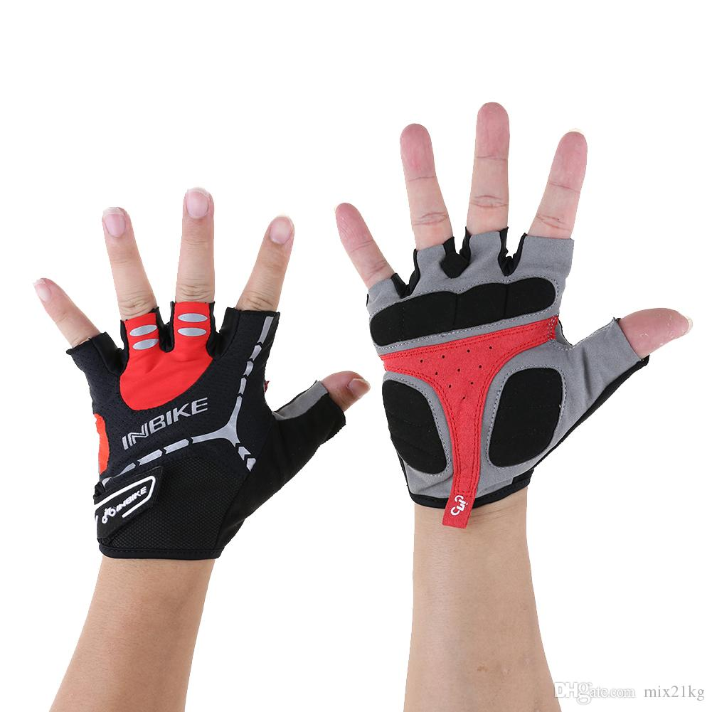 INBIKE Sports Gloves Motor Racing MTB Mountain Road Bike Bicycles Men Women Half Finger Breathable Riding Cycling Gloves M-XL