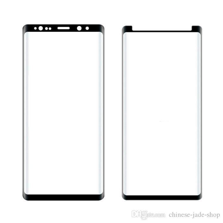 Case friendly or Full Cover 3D Curved Tempered Glass Screen Protector FOR Samsung Galaxy note 9 note 8 s9 s9 plus 100pc