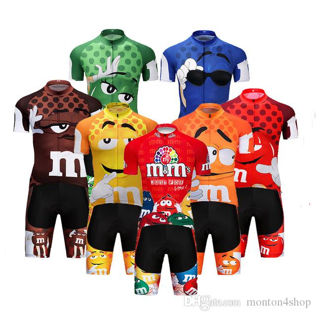 2019 Pro Karikatür Takım Bisiklet Jersey Kısa 9D set MTB Bisiklet Giyim Ropa Ciclismo Bisiklet Giyim Giymek Erkek Maillot Culotte