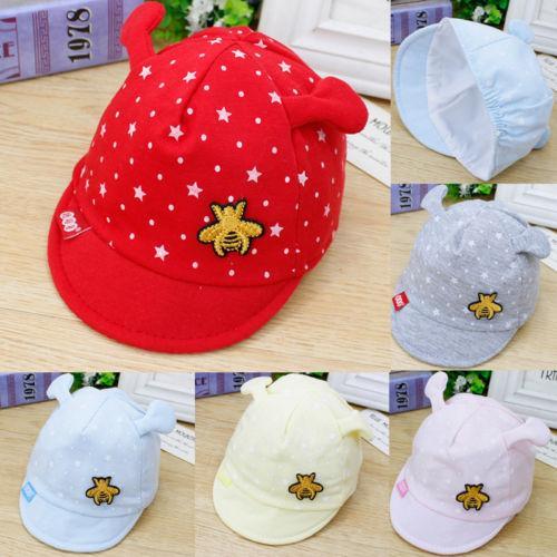Baby Sun Hat Newborn Boy Girl Toddler Cotton Summer Cap For 0-3 Months 5 Color