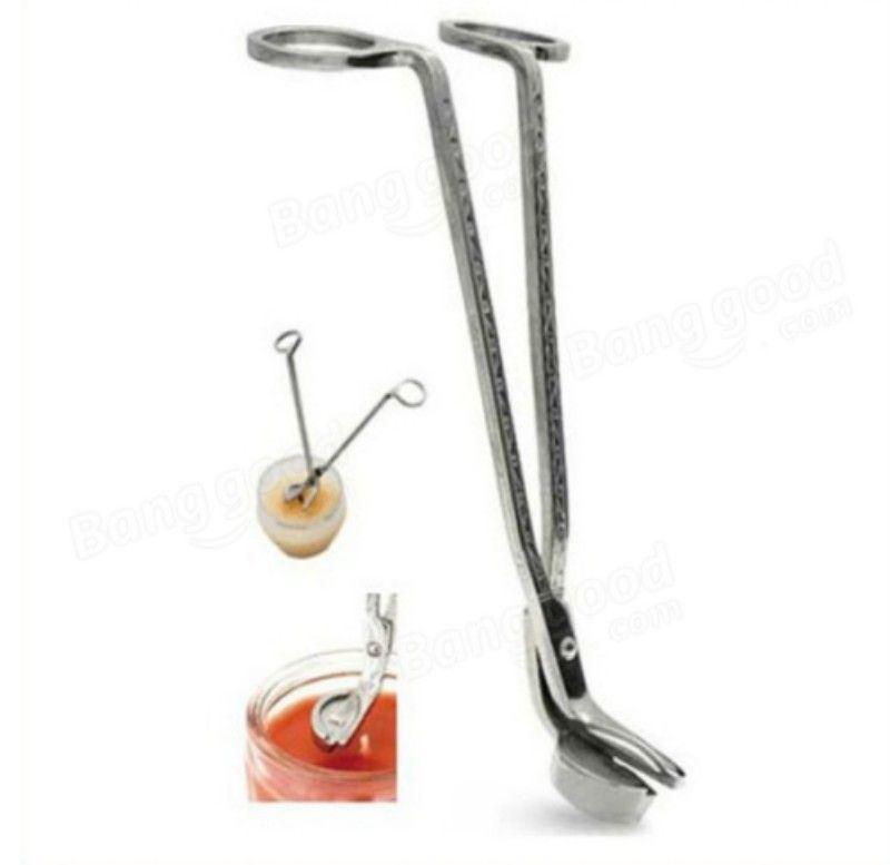 18*6CM Stainless Steel Candle Wick Trimmer Oil Lamp Trim scissor Cutter Snuffer Tool Hook Clipper