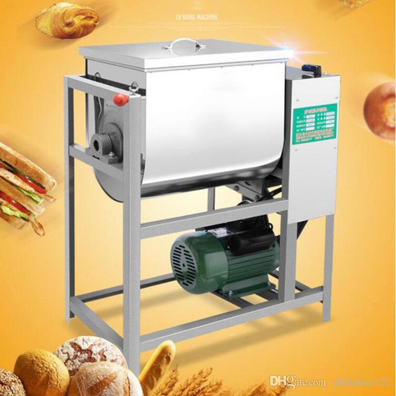 Misturador de farinha comercial do misturador de massa automática de 5kg 220v que agita a máquina de amasso 1400r / min da massa de pão da massa do misturador