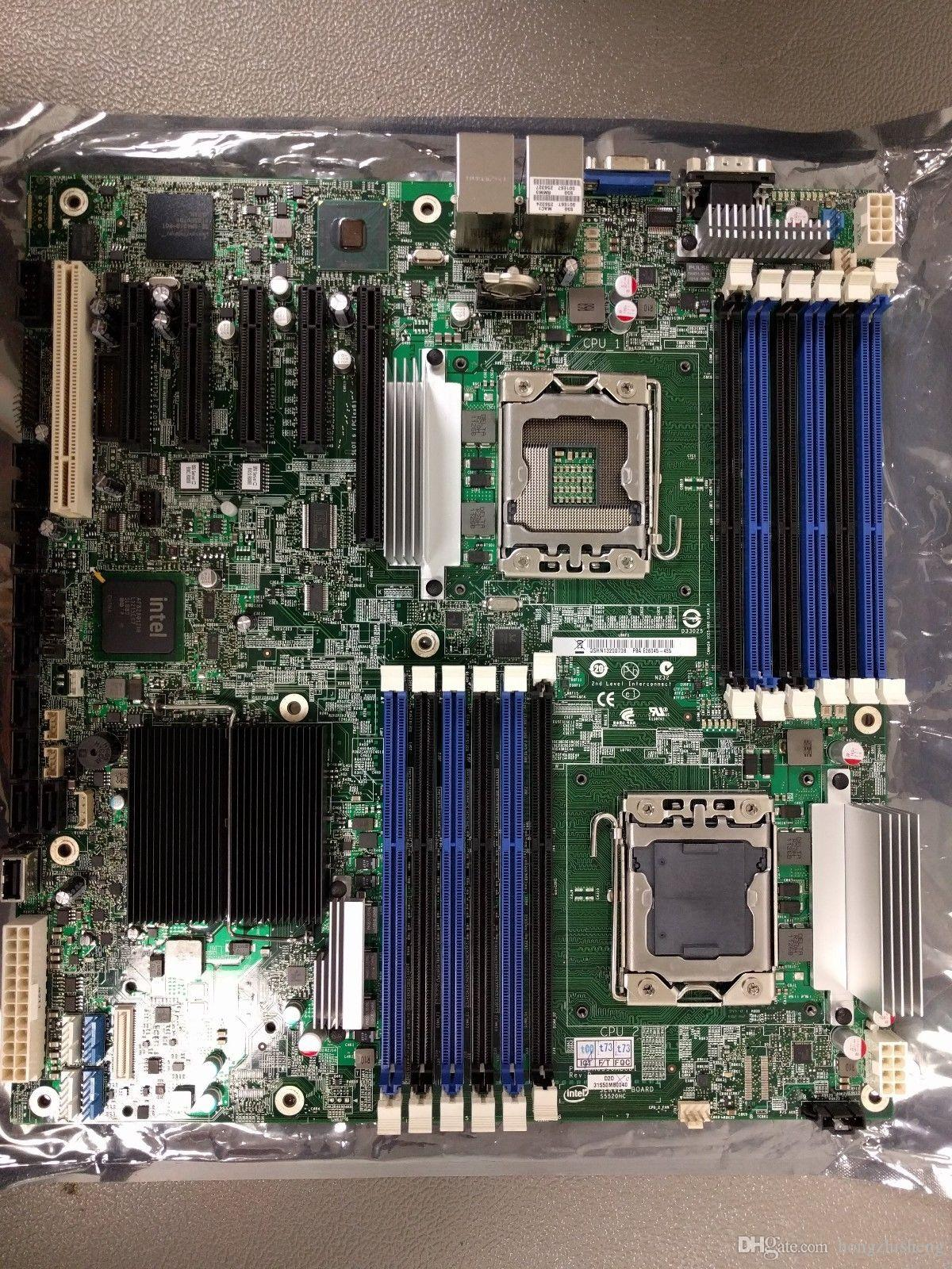 Envío rápido S5520HC Integrated Xeon LGA1366 x58 para Intel S5520HC Original Dual LGA1366 SATA DDR3 Server System Board