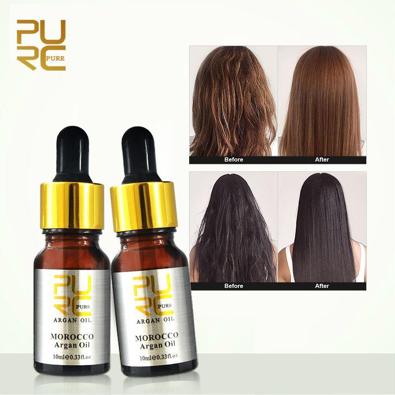 PURC Moroccan Pure Argan Oil for Hair Care Hair Treatment Oi Hair 1PCS 10ML