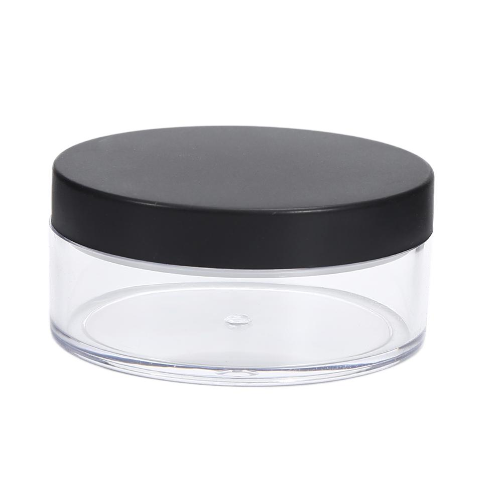 1pc plastique vide Pot de 50 g en vrac avec Sieve cosmétiques Maquillage Pot Container Voyage Parfum Cosmetic Rechargeables 70 Sifter