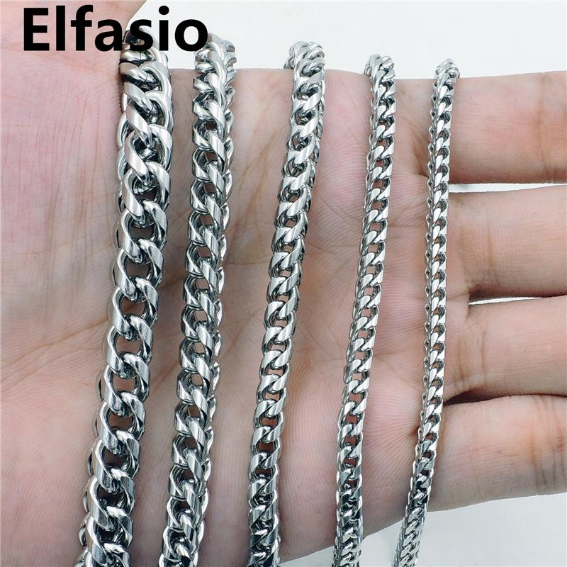 Wholesale Customized 3 4 5 6 8mm 16 Mens Square Wheat Braided Silver Stainless Steel Chain Necklace Jewelry From Rocketer 8 80 Dhgate Com