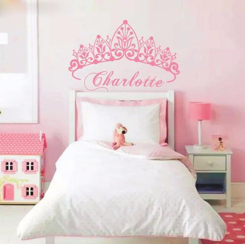 Little Princess Crown Creative Custom Baby Name Wall Stickers Room Decor  Art Decals Removable Vinyl Wallpaper Monkey Wall Decals Monkey Wall  Stickers ...