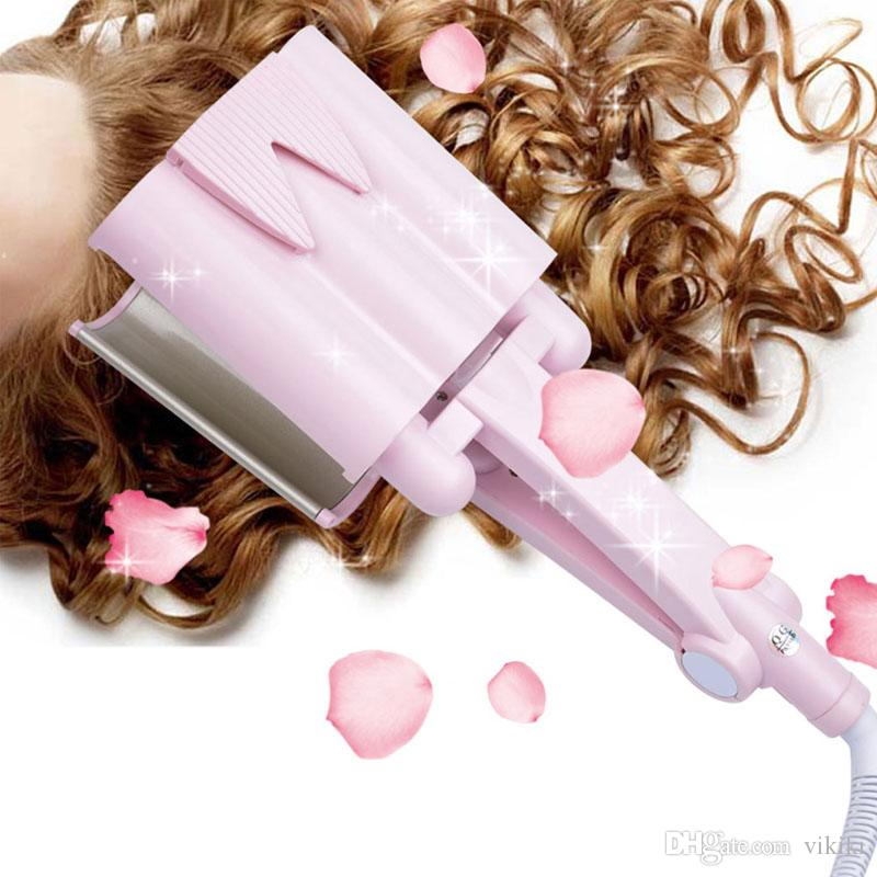 32mm Curling Onde Fer Céramique Bigoudi Cheveux ondulés profonde Bigoudi ne pas blesser les cheveux