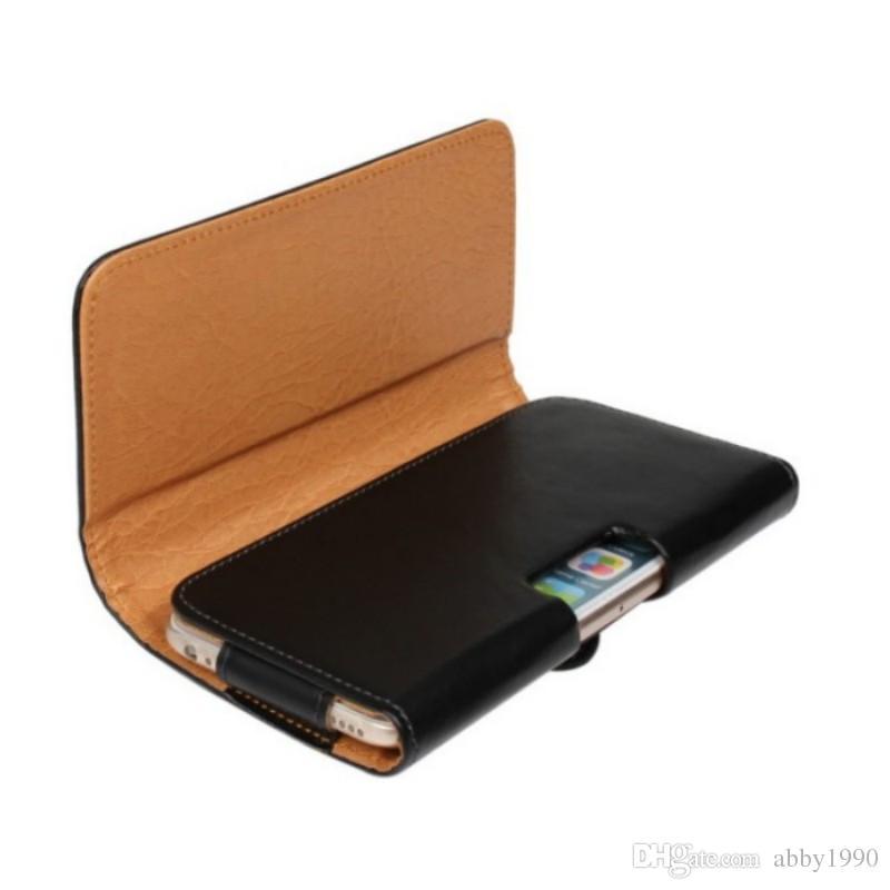 Cinto Universal Clipe de Couro PU Cintura Titular Flip Bolsa Para BLU Estúdio Mega / XL 2 / XL LTE