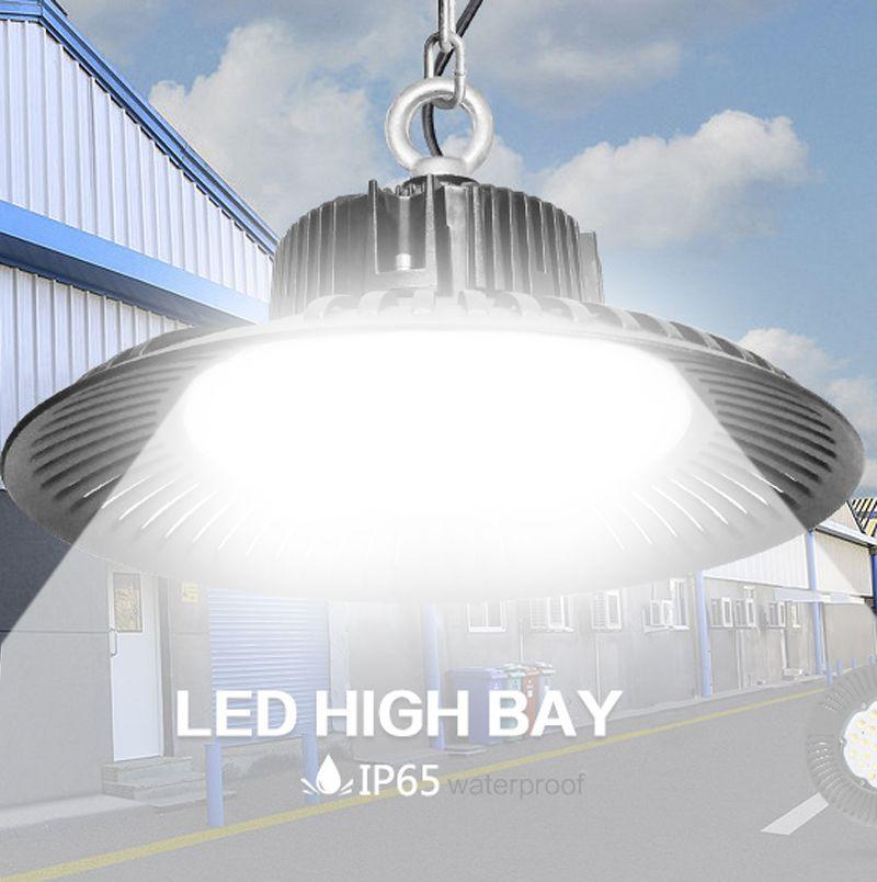 LED العالية خليج ضوء 50W 100W 150W 200W UFO 6000K 20000Lm IP65 AC85-265V LED ضوء الفيضانات الألومنيوم التعدين Highbay مصباح