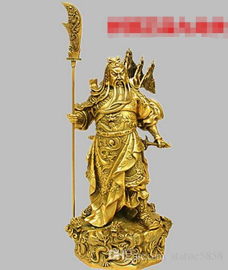 2017 620+++A fine statue of Guan Gong Wu copper wealth Kowloon Guan Feng Shui lucky Home Furnishing jewelry ornaments