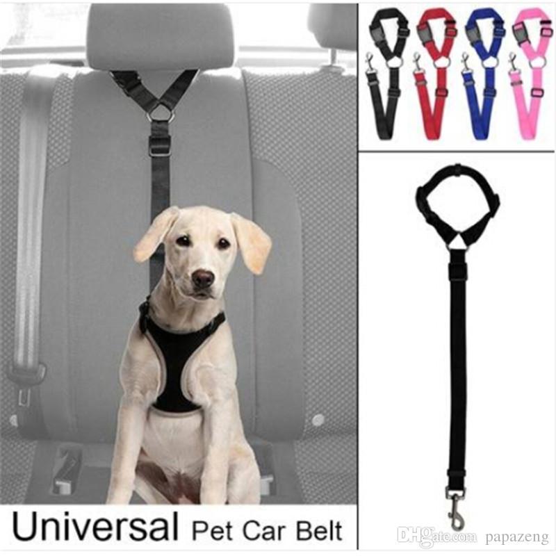 Ajustável assento cão Belt Dog Harness Pet Vehicle Car Seat Leash cinto de segurança Pet Dog coleiras trelas