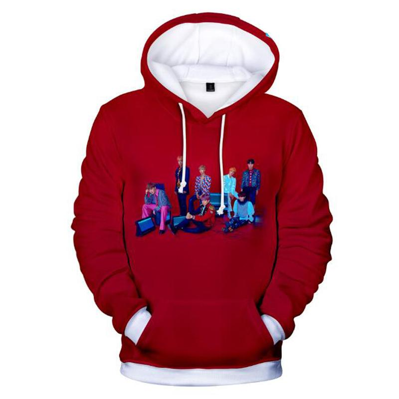KPOP BTS 3D Sweat-shirt Avec Un Capuche Couple Hoodies Devrait Aider Les Amoureux Lâche Sweat Shirt Femme K-POP BTS Femmes Hommes Survêtements