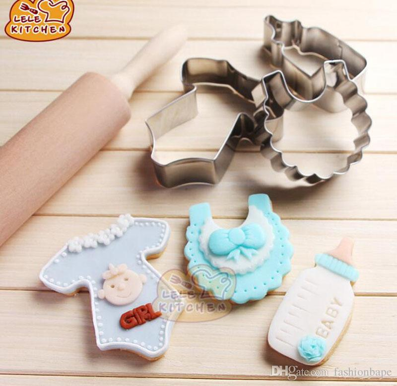 Baby Clothing Pattern Stainless Mould Sets Cookie Cutter Fondant Sugar Cake Decorating Tools Biscuit Moldes Kitchen Accessories