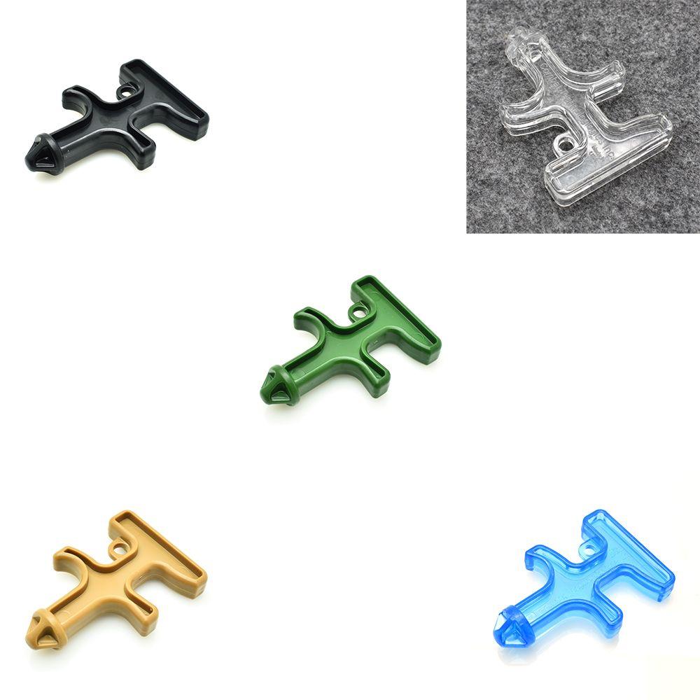 5 قطعة / الوحدة النايلون البلاستيك الصلب أداة الحماية التكتيكية الحفر دورون الدفاع الذاتي الحفر مفتاح سلسلة