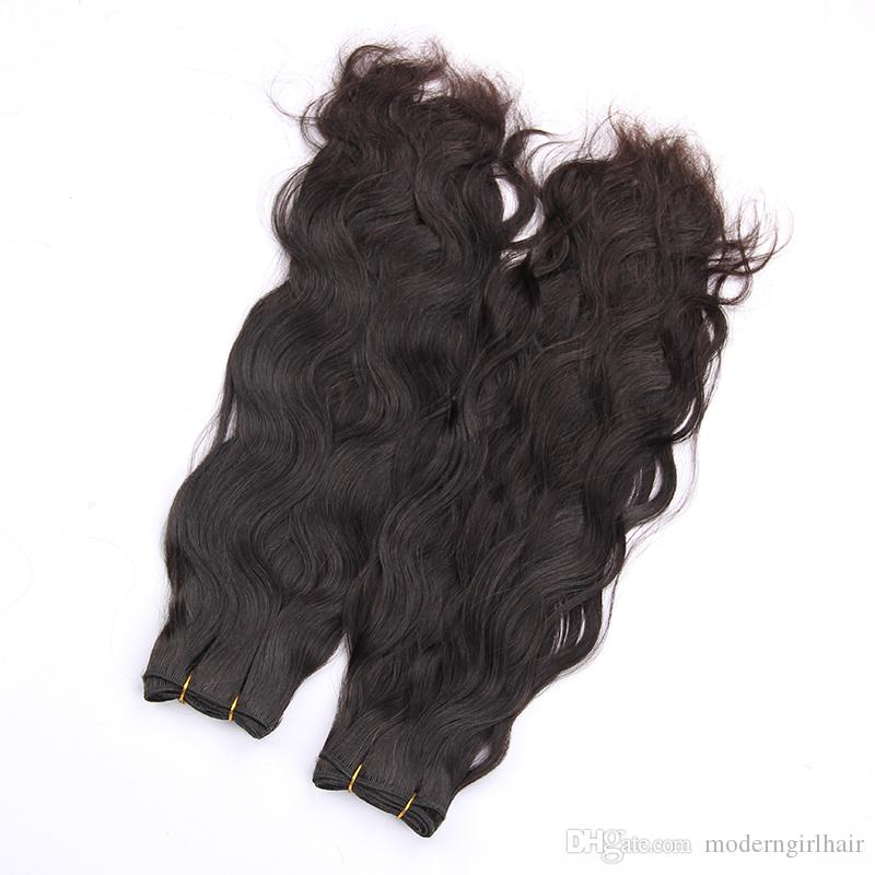 Malesia Loose Wave 4 Bundles Deal 100% capelli umani Bundles Non Remy Hair Weave 8-28 pollici Colore naturale