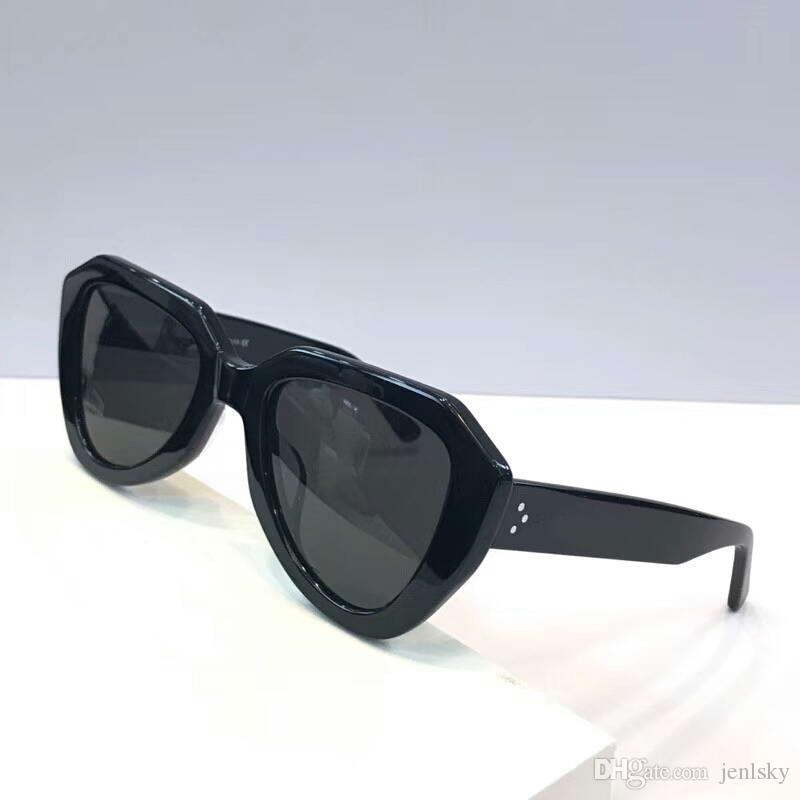Gafas Gläser Sol Frauen de Black Sonnenbrille schattierte neue Sonnenbrille Sonnenbrille CL40046 / s Grau Wth Box Ednpw