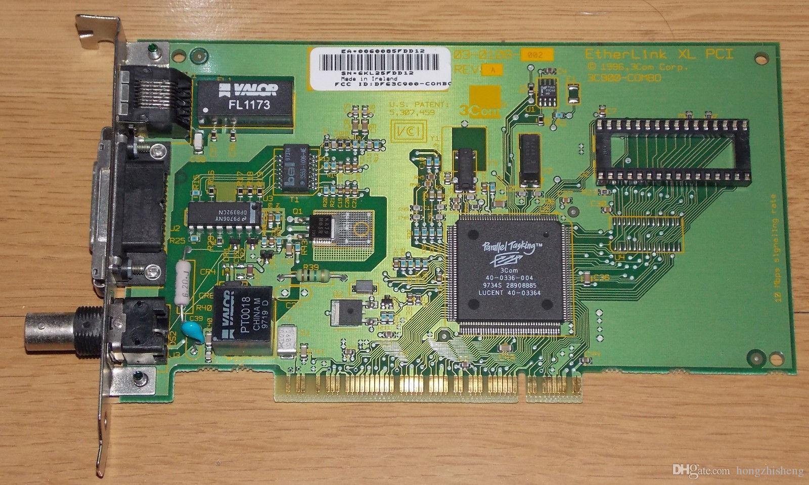 Endüstriyel ekipman kartı PCI arayüzü Ağ adaptörü BNC AUI 3C900-COMBO 03-0108-002 REV A