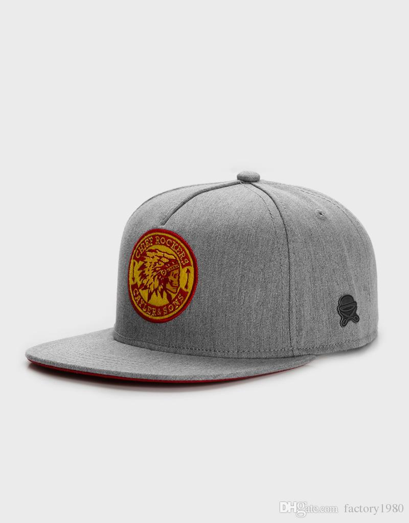 free shipping cheap high quality hat classic fashion hip hop brand man woman snapbacks heather grey/red/yellow C&S CL CR CAP