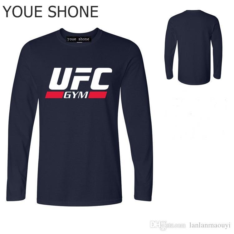 Maglietta UFC di marca Ultimate Fighting Letter Print Magliette Magliette a maniche lunghe T-shirt a maniche lunghe Harajuku