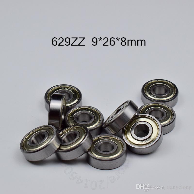629Z rolamentos 10pcs de metal selado que ostente Miniature frete grátis 629 629Z 629ZZ 9 * 26 * aço cromado 8 milímetros de sulco profundo rolamento