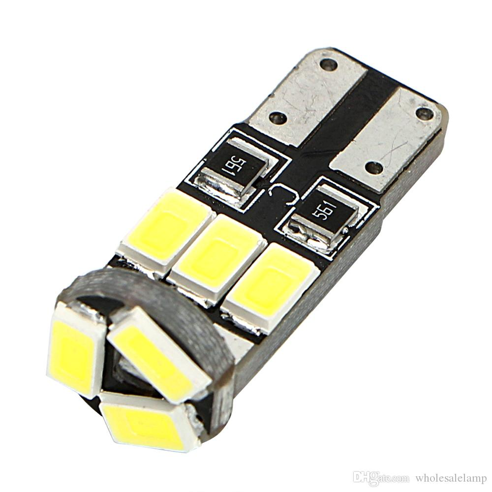 T10 9SMD 2835 Car Lamp Clearance Lights Dashboard Lamp Car LED Bulb Turn Signal Bulb White Car-styling
