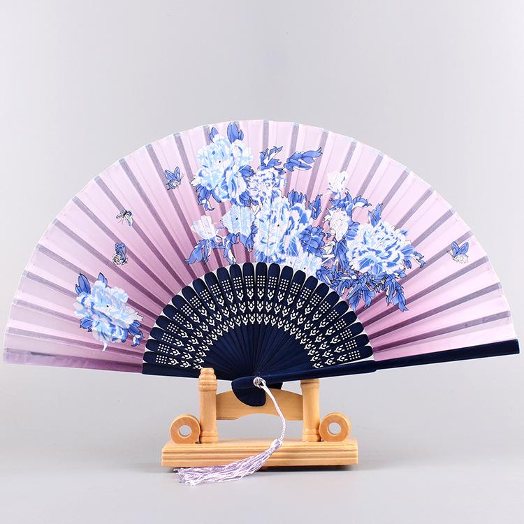various colors pattern beautiful and temperamental chinese national style portable folding fan suitable for photography dancing props gifts