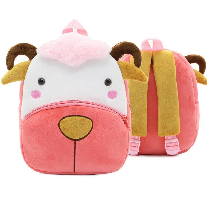 Cute Animal Sheep Baby School Bags Kindergarten Toddler Backpack Kids Boys Girls Gifts Cartoon Small Plush Schoolbag