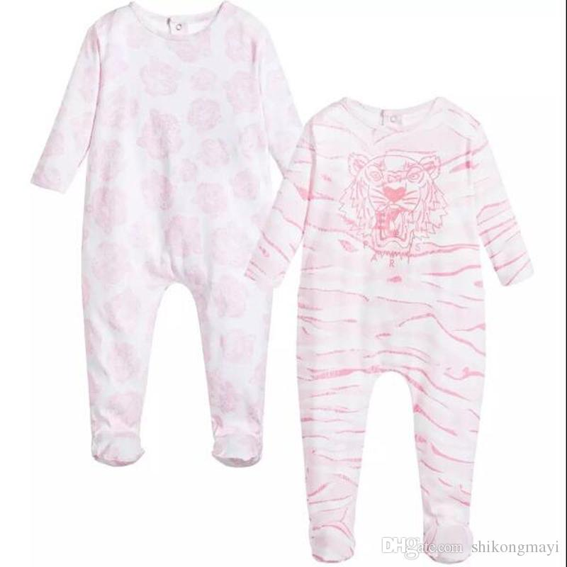 Retail fashion baby pajamas sleepwear baby clothing kids clothes for girls rompers 100% cotton newborn baby rompers