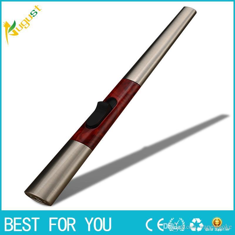 Nuovo accendino a forma di accendino con accendino a forma di accendino elettronico per accendisigari in metallo