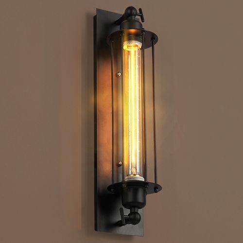 Estilo europeo del norte de América retro llevó lámparas de pared para balcón salón bar decoración creativa industrial viento iluminación de pared interior
