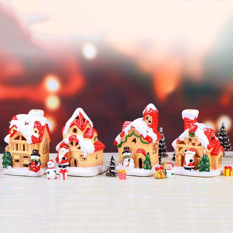 Рождественский декор снег дом Фея сад миниатюры смолы ремесло микро пейзаж террариум фигурки бонсай инструменты jardin
