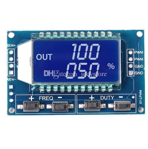 1pc Signal Generator LCD Display Module Output PWM Pulse Frequency Duty Cycle Adjustable Display Modules 1Hz-150Khz 3.3V-30V TTL